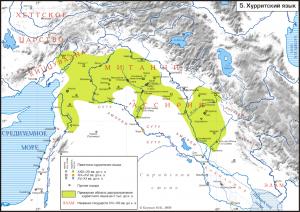 27-распространение хурритского языка