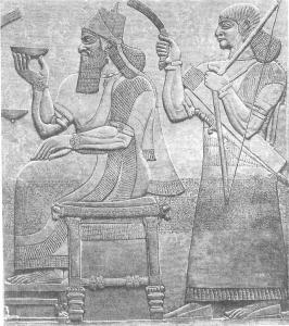 51-Ашшур-нацир-апал II на троне