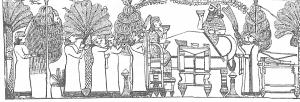 57-Ашшурбанапал и его царица за столом