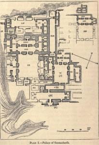 61-План дворца в Ниневии, где была найдена библиотека