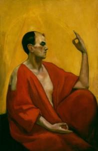 NPG 6630; Edward Alexander ('Aleister') Crowley by Leon Engers Kennedy